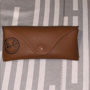 Other - Authentic Ray-Ban leather sunglasses case